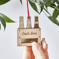 Personalised Beer Crate Christmas Decoration