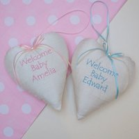 Silk Welcome Baby Heart