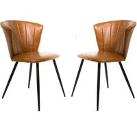 Bourne Tan Brown Set Of Two Dining Chairs