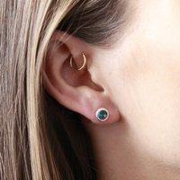 Blue Gemstone Stud Earrings