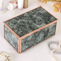 Rose Gold Marble Jewellery Box, Gold