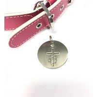 Personalised Antique Nickel Crucifix Dog Tag