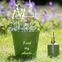 Personalised Gardening Bucket And Mister Gift Set