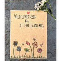 Recycled Wildflower Seed Packet Gift And Favour