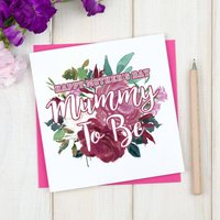 Personalised Mummy To Be Mothers Day Card, Blue/Pink