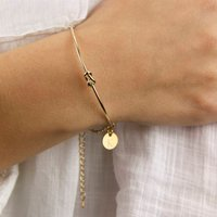 Personalised Gold Or Rose Gold Knot Bangle Bracelet, Gold