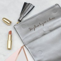 Luxury Leather Secret Message Foldover Clutch Bag