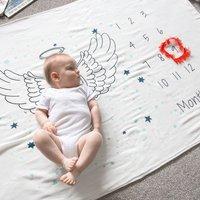 Milestone Baby Angel Wings Cotton Blanket