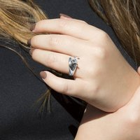 Sterling Silver Mouse Ring, Silver