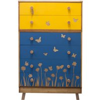 Mid Century Butterfly Design Chest Of Drawers