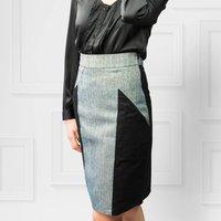 Imperia Colourblock Metallic Pencil Skirt