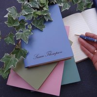 Personalised Leather Notebook Journal