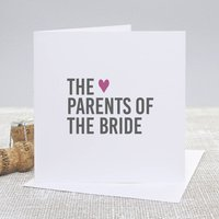 'Parents Of The Bride' Bold Wedding Thank You Card