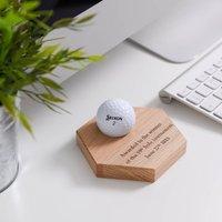 Personalised Hexagon Golf Award