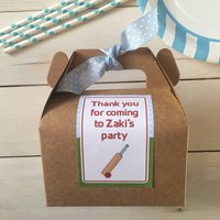 Personalised Cricket Baking Kit Party Bag
