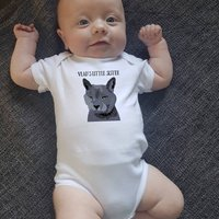 Personalised Cat Babygrow Choice Of All Breeds