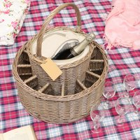 Blenheim Garden Party Willow Basket With Glasses