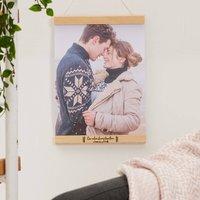 Personalised Engagement Photo Hanger