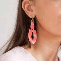 Statement Marbled Earrings