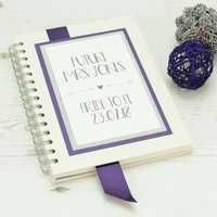 Personalised 'Future Mrs' Wedding Planning Notebook, Silver/Champagne/Blue