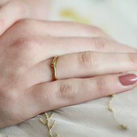 9ct Gold Twig And Bud Ring, Gold
