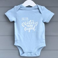 Personalised Cuter Than Cupid Baby Grow