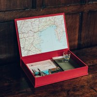 Travel Keepsake Box, Coral/Gold/Silver