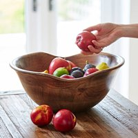 Natural Wooden Fruit Bowl