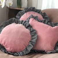 Frilly Cushions Eco Cushions With Gingham Frill