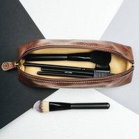 Womens Slim Leather Make Up Brush Holder Lorena