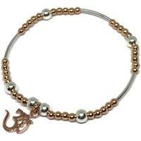 Rose Gold Bracelet With Om Charm, Gold