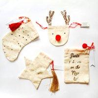 Christmas Cotton Gift Bags