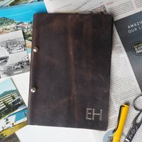 Personalised Refillable Leather Bound Notebook