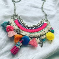 Festival Necklace Multicoloured Summer Necklace
