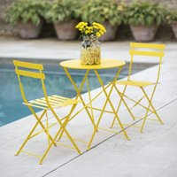 Small Bistro Set In Yellow