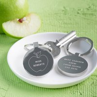 Personalised Thank You Teacher Apple Keyring
