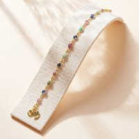 Ruby Sapphire Emerald Gold Bracelet, Gold