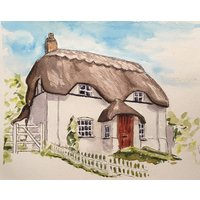 Original Hand Painted Portrait Of Your House