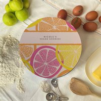 Personalised Citrus Circle Cake Tin