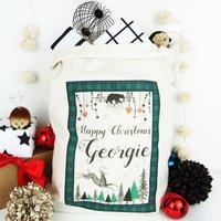 Happy Christmas, Personalised Christmas Sack