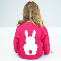 Kids Bunny Rabbit Sweatshirt, Hot Pink/Pink/Sapphire Blue