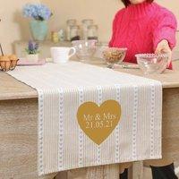 Personalised Heart Table Runner Wedding Gift
