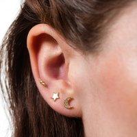 Set Of Three Celestial Earrings