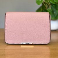 Fold Over Cross Body Bag In Pink