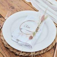 Rose Gold Hoop Wedding Place Cards Set Of Four