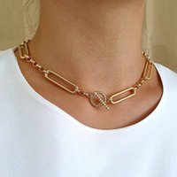Gold Chain Necklace, Gold