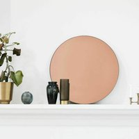 Rose Gold Tint Wall Mirror