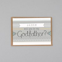 Will You Be My Godfather Card Personalised