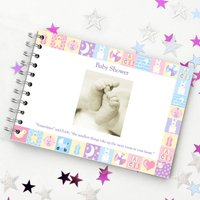 Baby Shower Guest Book, Black