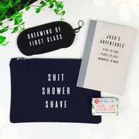Personalised Shit, Shower, Shave Men's Travel Gift Set